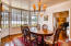 Large Formal Dining Room with lots of light