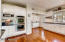 Double ovens, lots of cabinetry and drawers