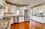 Granite counters and gas cook top