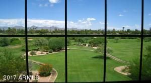 Golf course and mountain view from Living Room