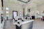 Great Room with 12' tall ceilings