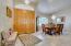 Entryway, formal dining room