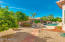 Lovely large lot with fruit trees, oebbletec pool and spa.