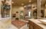 Spacious master bath with large walk in shower and jetted tub