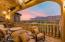 One of several outdoor entertaining areas with Panoramic views of the entire Superstition Mountain Range