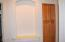 Display niche and linen closet