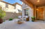 Inviting front courtyard welcomes friends and family.