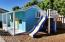 80 square feet with loft, deck and attached slide!