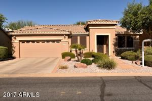 Front yard with desert landscaping
