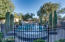Beautiful rod iron enclosed pool area