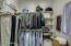 Great large closet with hanging area & shelves just for you