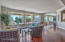 Panoramic view of the golf course from the large living room