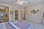 Master bedroom with large walkin closet and master bath
