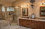 Master bath just remodeled. Double sinks, tile walk-in shower, double medicine cabinets