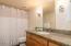 Master bathroom with oversized vanity + granite countertops!