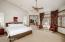 Carving out personal spaces... the master bedroom and private adjoining study