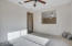 Light, bright office/den with view of the backyard