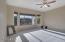 Large master suite, bay window with view of backyare, split bedroom floor plan.