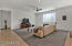Great Room w/ Ceiling Fan & LED Canned Lighting