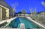 Lap Pool with View Fence in this Tranquil quiet space secluded from neighbors and shielded from overhead lighting for peaceful starlit evening skies