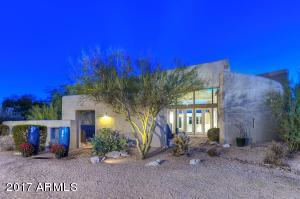 Contemporary Open Design custom Circular Footprint designed to enhance the North-South Natural Desert 1.2 Acre Lot.