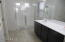 Master bath with large walk-in shower.