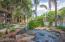 Streams around the pool.