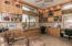 3rd Bedroom/Office with custom built in cabinetry & Murphy Bed