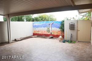 spacious tiled patio