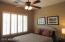 3rd Bedroom Custom Wood Shutters & Overhead Ceiling Fan
