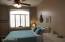 Bedroom 2 with Wood Shutters & Overhead Ceiling Fan