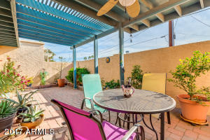 Covered patio with pergola