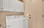 Laundry room with overhead storage cabinets. Washer & Dryer INCLUDED!