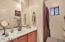 Guest bathroom has lots of elbow room!