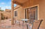 A covered patio for your relaxation & pavers and block wall for privacy!