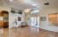 Vaulted ceilings and wide open floor plan.