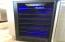Wine Cooler with a blue light for nights