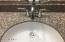 Granite sink in downstairs bath