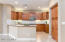 Kitchen with upgraded cabinets, granite counters, under cabinet/above cabinet lighting