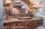 Copper sink and slate accents
