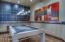 Leather walls and Zebra wood floors ...swanky!