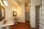 Master Bath with Custom Tiled, Glass Block Walk-In Shower