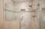 All new tiled walk-in master shower
