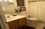 Secondary bathroom easily accessible to bedrooms