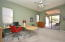 Large Office with direct access to private backyard patio.