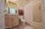 Private bath in Bedroom #2.