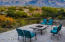 Backyard sitting area with a nice fire-pit, and did we mention the multi-million dollar views?
