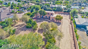 Drone Aerial of 5725 E Camelback Rd., Phoenix, AZ 85018 in ARCADIA on 0.86 Acres