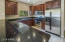 Granite counters & stainless steel appliances.