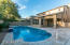 Extended covered back patio and pool deck area